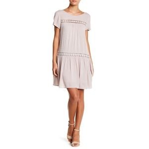Nordstrom Dual Nature Lace Inset Drop Waist Dress